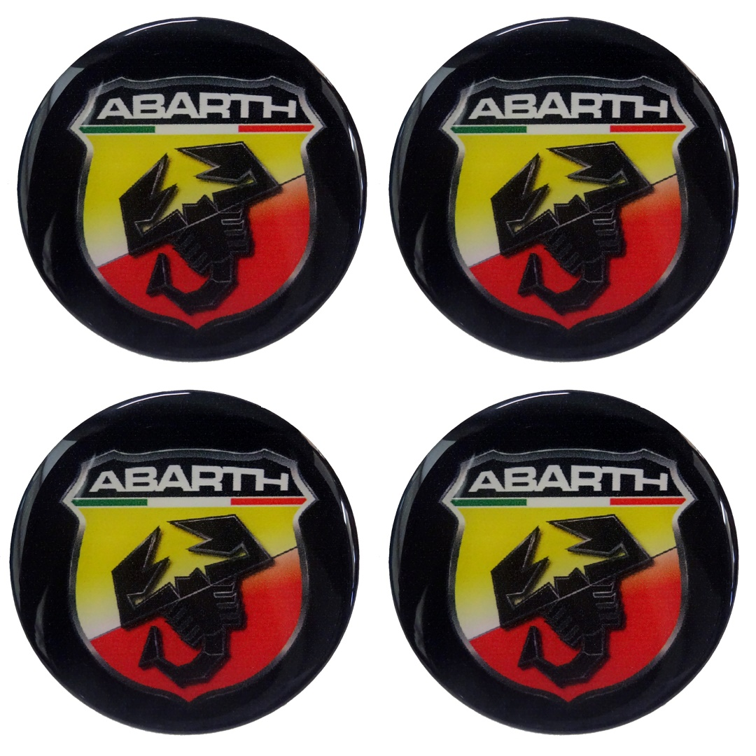 Race Axion ABARTH ΑΥΤΟΚΟΛΛΗΤΑ ΣΗΜΑΤΑ ΖΑΝΤΩΝ 5 cm ΜΑΥΡΟ ΜΕ ΕΠΙΚΑΛΥΨΗ ΣΜΑΛΤΟΥ  - 4 ΤΕΜ.