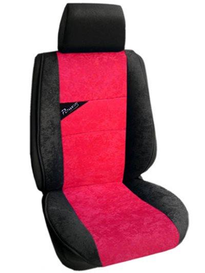 Πλατοκάθισμα Αυτοκινήτου Αλκαντάρα Coverstyle 9800-29 Κόκκινο-μονόχρωμο 2τμχ