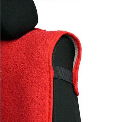 Πλατοκάθισμα Αυτοκινήτου Πετσέτα Μονόχρωμη Coverstyle, Μαύρο, 2 τμχ