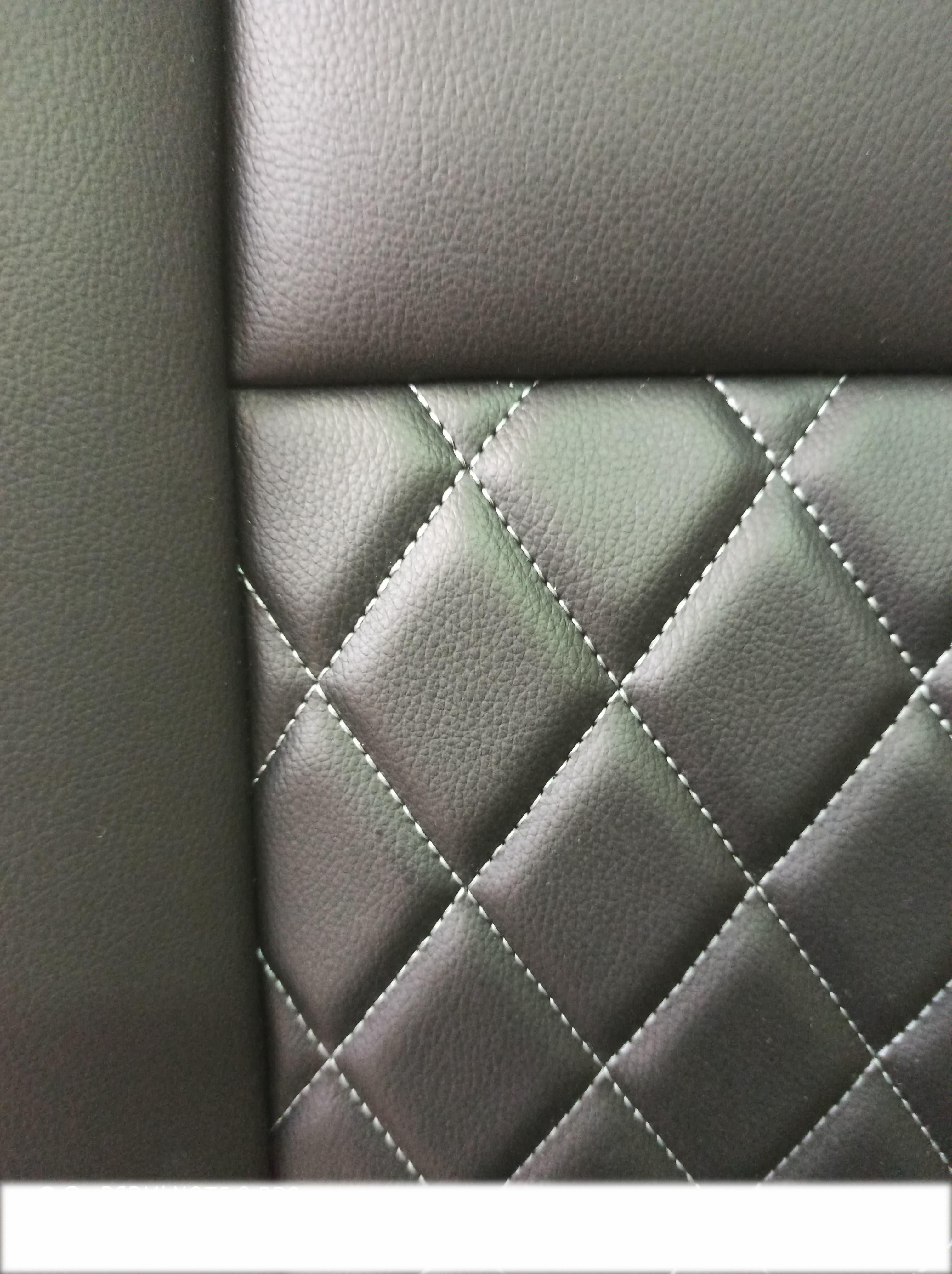 Πλατοκάθισμα Αυτοκινήτου Δερματίνη Coverstyle 2TMX Μαύρο καπιτονέ με ΓΚΡΙ ραφή 0000T4-ΓK