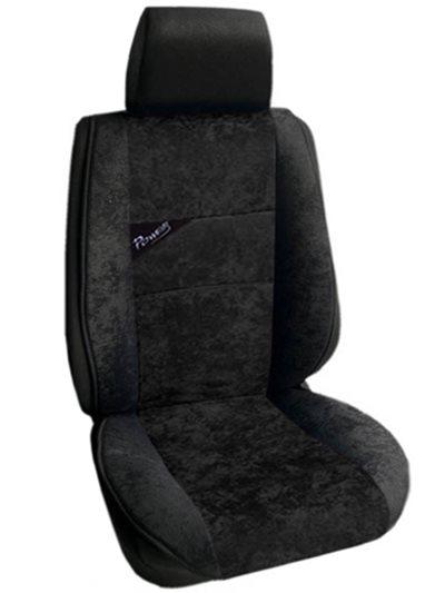Πλατοκάθισμα Αυτοκινήτου Αλκαντάρα Coverstyle 9800-28 Μαύρο-μονοχρωμο 2τμχ