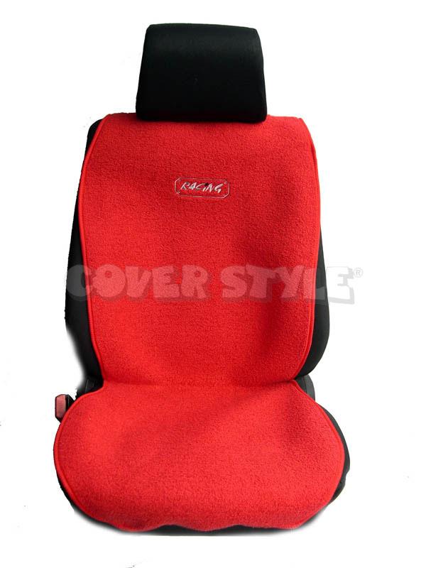 Ημικαλύμματα Αυτοκινήτου Coverstyle μάυρο κόκκινο 2 τεμαχίων (οδηγού-συνοδηγού)αυτοκινητόπανο-δίχτυ